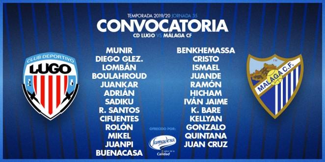 Lista de convocados del Málaga CF