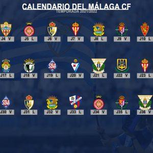 Calendario liguero del Málaga CF: Temporada 2021/2022