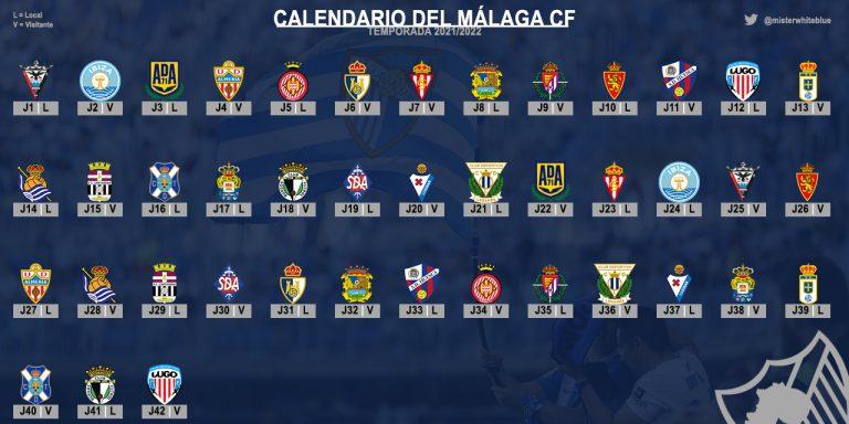 Lee más sobre el artículo Calendario liguero del Málaga CF: Temporada 2021/2022